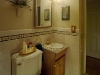 classic stone border, bathroom wall & floor