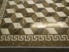 tumbling blocks, waterjet stone mosaic, bathroom