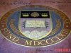 waterjet stone & metal medallion, Boston College