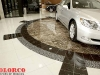 waterjet stone floor, Lexus showroom